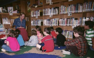 """Thank you so much, boys and girls, for your thank you letters. I'm glad you enjoy your library visits!"""