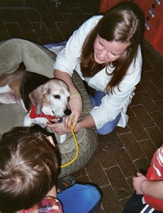 """""""Students, imagine yourself discovering a cure for heartworm in dogs."""" """"Wow!"""""""