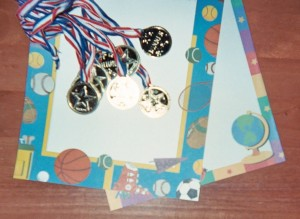 Tie your country's flag colors onto pretend gold medals to give as Olympic Party favors.