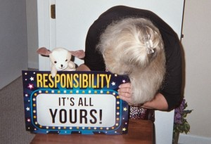 "After ""Peppi"" helps the class discuss responsibility, I can exhibit this poster along Responsibility Drive."
