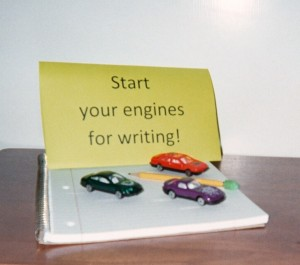 Use cool verbs, action words, that ZIP across the page like cars around a track!