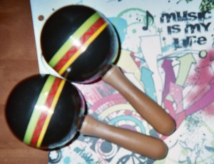 Invite kids to shake maracas to celebrate Cinco de Mayo.
