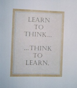 A poster with smart advice for K-5 students.