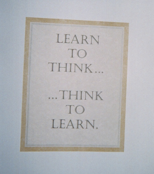 A poster with smart advice discovered by The Attentionology Traveler