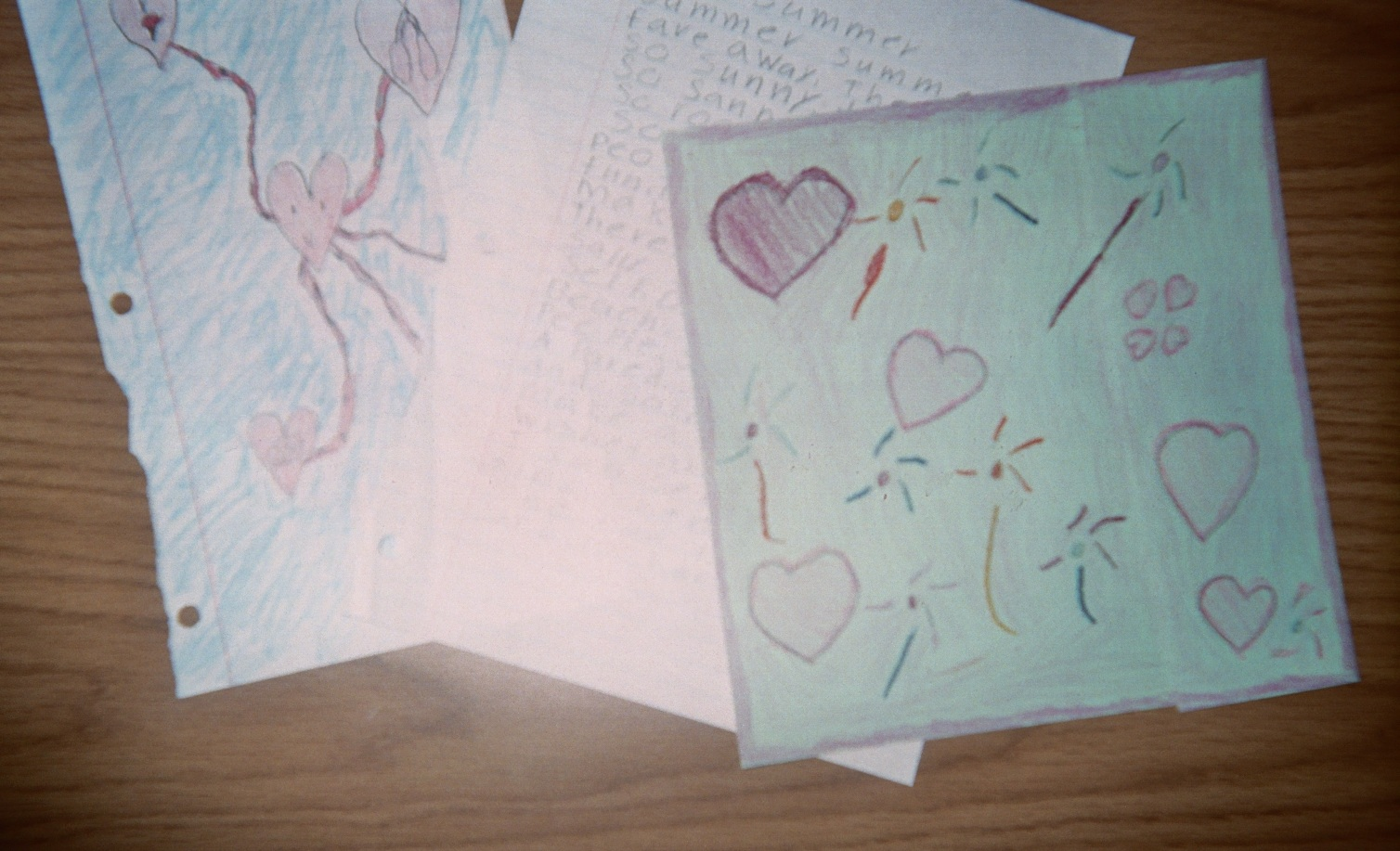 Kids LOVE to fold paper to make a hidden strip for writing a SECRET POEM!