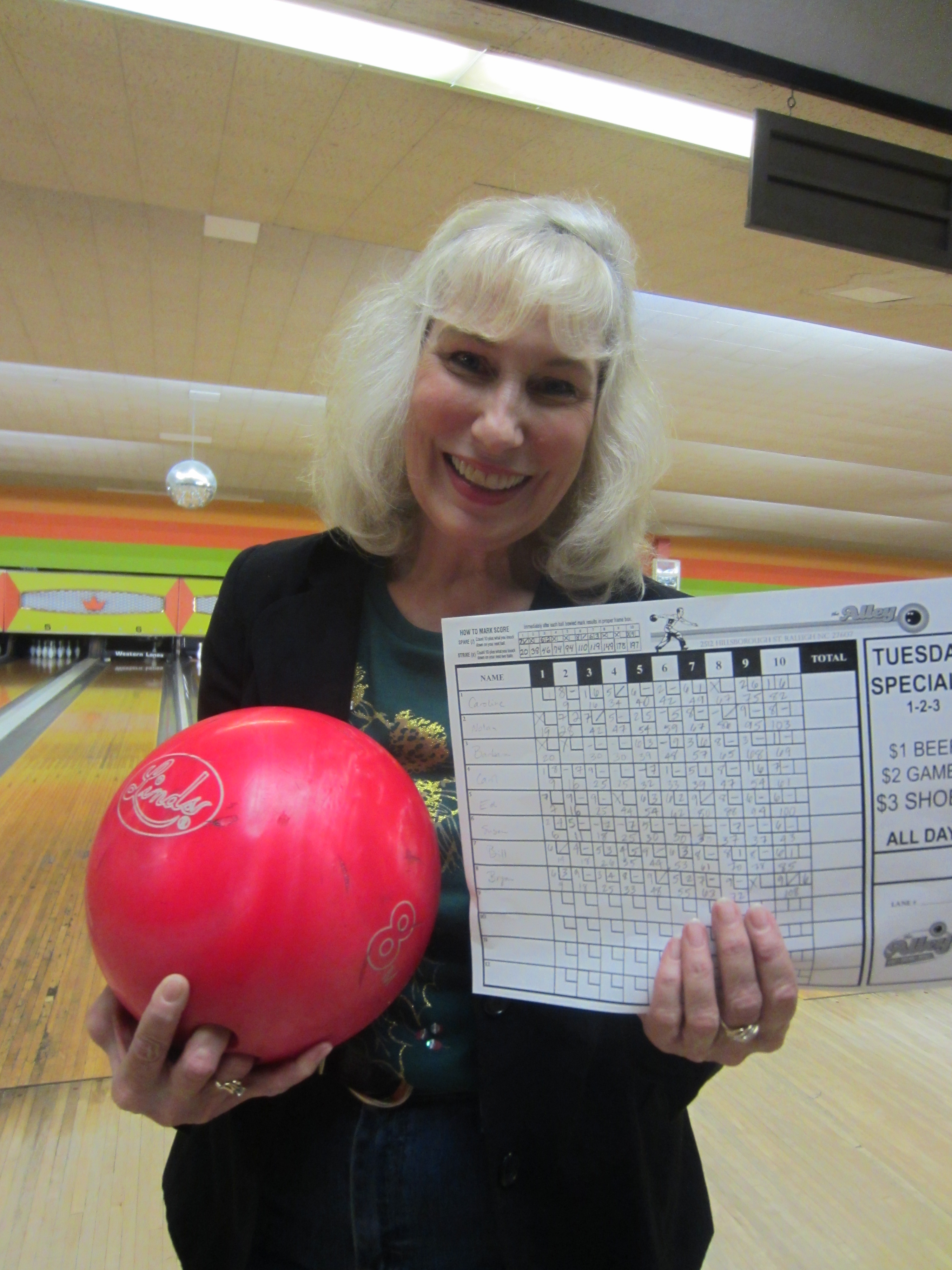 """""""Just look at that bowling score!"""" Bragging rights are for teachers, too."""