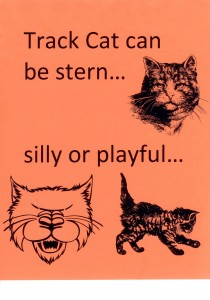 Choose an image for Track Cat with a personality that suits your class.