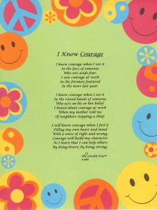 Share this poem about courage with your class.