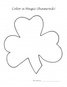 "No symbol is more Irish than the shamrock. Give kids copies to ""color a magic shamrock"" for your bulletin board border."