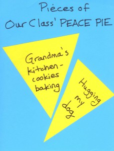 Ask kids to write what calms them on pieces of a PEACE PIE to help them prepare to focus at the start of a school day.