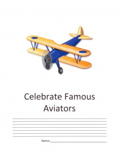 Give students a visually appealing research form; this one to celebrate famous aviators like the Wright Brothers.