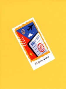 Kids love to travel. Post a Passport Name Tag for each child in your class.
