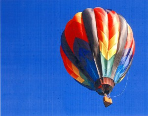 Hot air balloons lift UP into the sky. Invite kids to write fictional stories about their adventures in a hot air balloon.