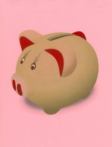 Piggy (bank) goes to school to collect skills that are important to success now and in the future.