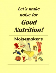 Let kids make noise for good nutrition right before they head for lunch.