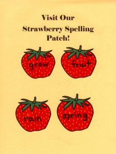 Post a delicious word choice in your Garden of Learning... a Strawberry Spelling Patch!